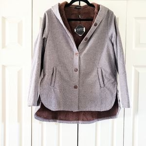 Zaful NWT Fleece Lined Button Up Coat Size 4